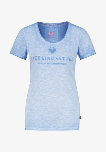 Print T-shirt - aqua 53