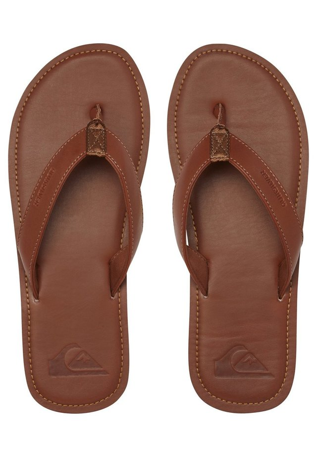 Slippers - tan - solid