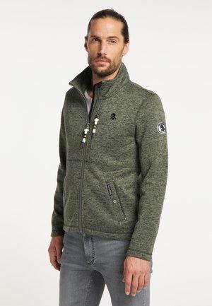 Fleece jacket - oliv melange