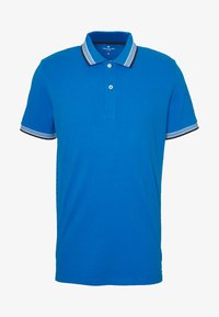 TOM TAILOR - WORDING TIPPING - Polo - electric teal blue - 3