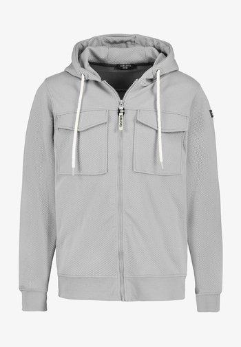 Zip-up sweatshirt - light-grey