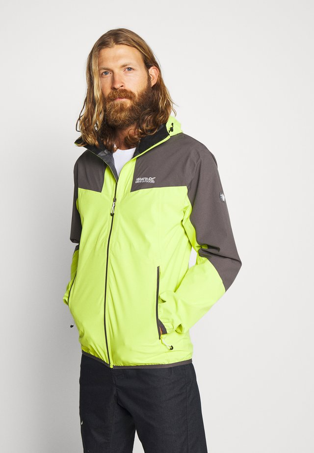 IMBER V - Hardshell jacket - electric lime/magnet grey