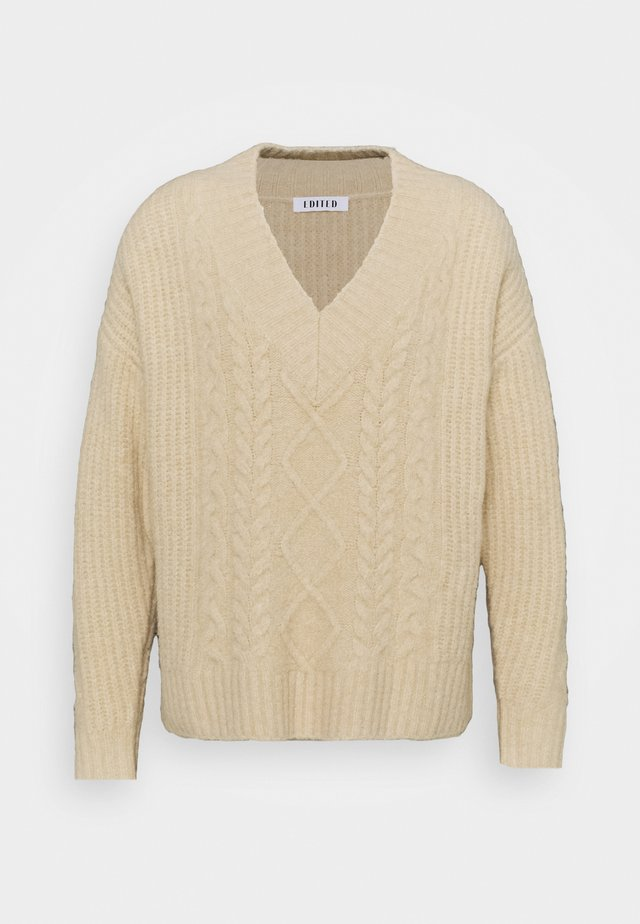 SELINA JUMPER - Stickad tröja - beige