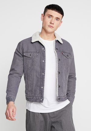 SHERPA TRUCKER - Denim jacket - magnet sherpa trucker