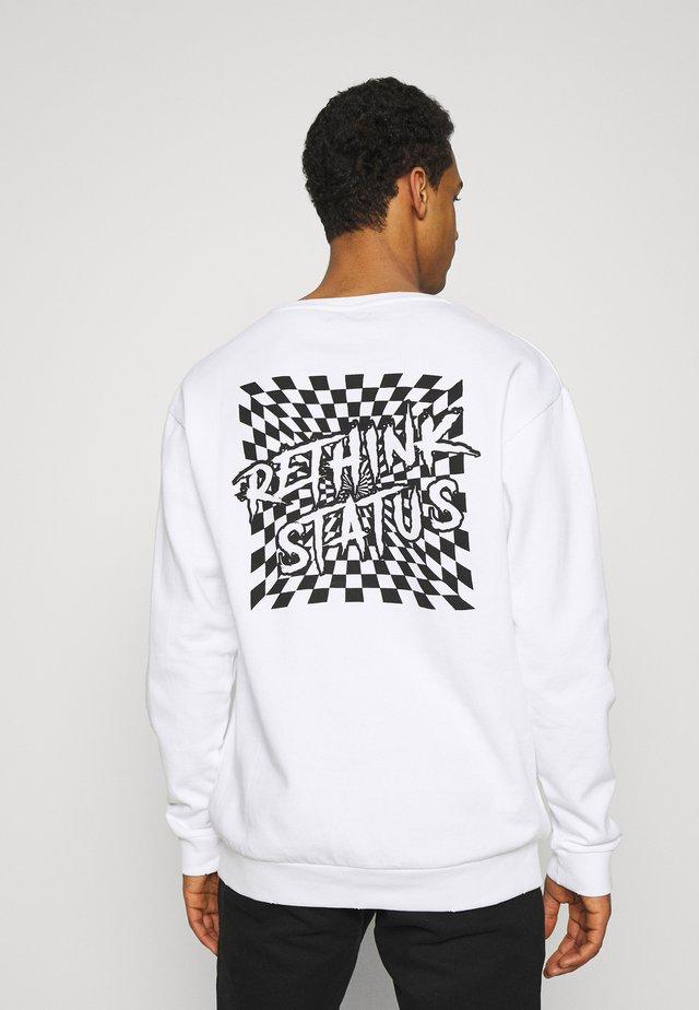 CREWNECK UNISEX DAMAGE - Sweater - white