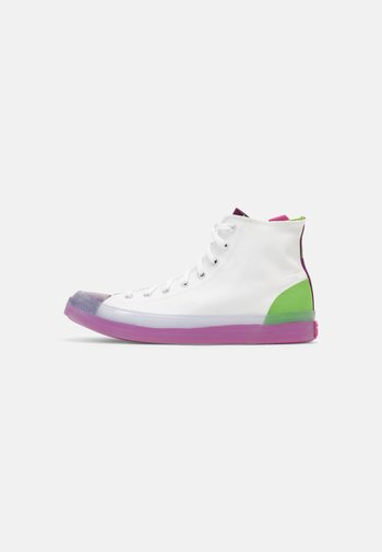 CHUCK TAYLOR ALL STAR CX COLORBLOCKED UNISEX - High-top trainers - white/bold wasabi/nightfall violet