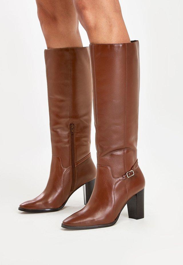 TAN SIGNATURE  - Laarzen met hoge hak - brown
