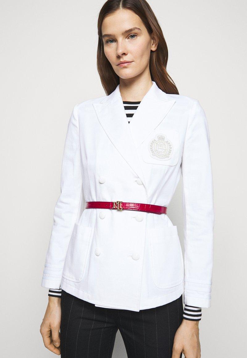 Lauren Ralph Lauren - CROC EMBOSS - Belt - candy red/black