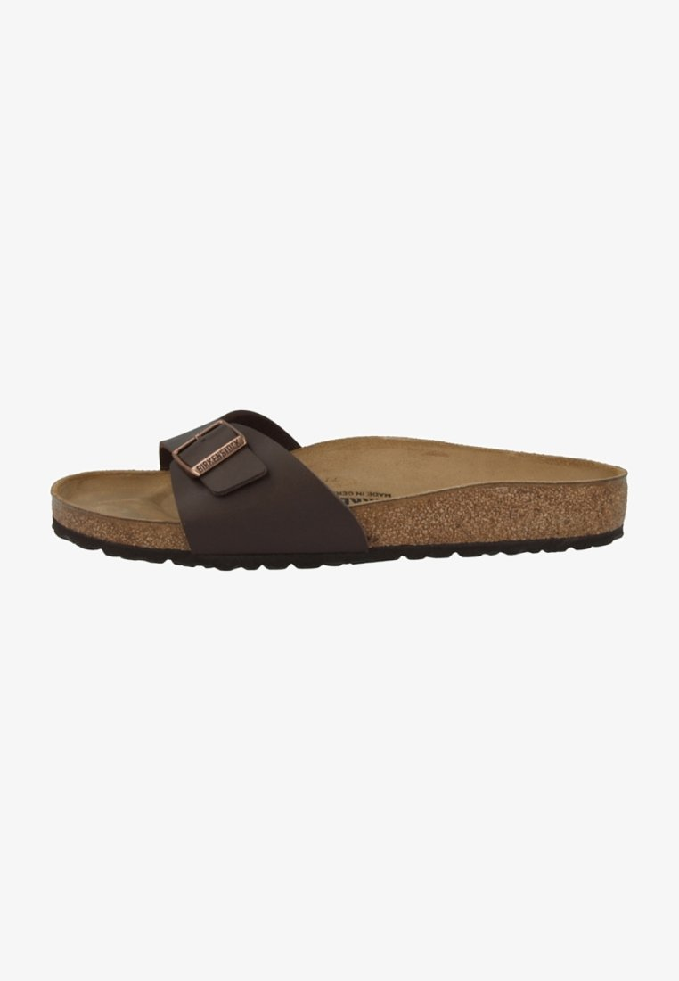 Birkenstock - MADRID BIRKO-FLOR NORMAL - Slippers - dark brown
