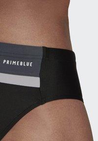 adidas Performance - COLORBLOCK TAPERED SWIM TRUNKS - Swimming trunks - black - 4