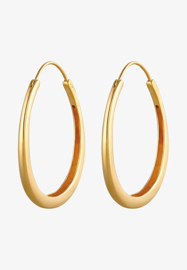 BASIC HOOPS - Orecchini - gold-coloured