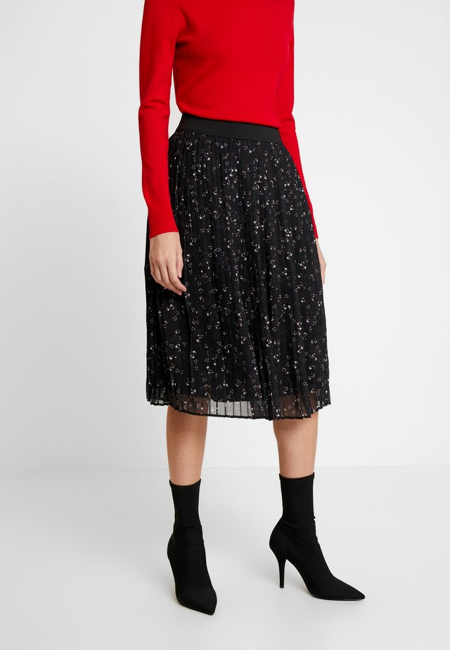 PLEATED ETEK - Pleated skirt - black/multi color