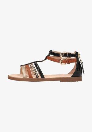 Sandals - black/caramel