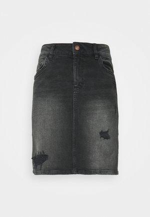 SKIRT - Denim skirt - black dark wash