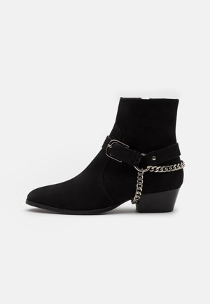 ZIMMERMAN CHAIN BOOT - Cowboy/biker ankle boot - black coffee
