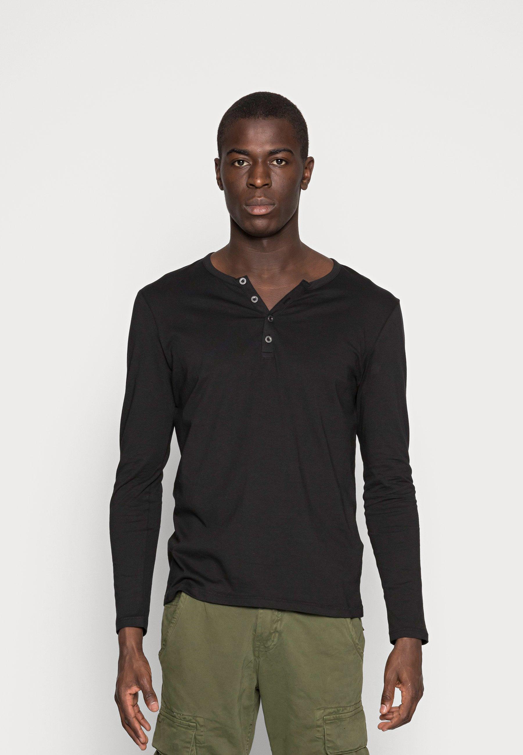 Men Long sleeved top - black