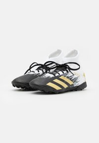 adidas Performance - PREDATOR 20.3 FOOTBALL BOOTS TURF UNISEX - Astro turf trainers - footwear white/gold metallic/core black - 1