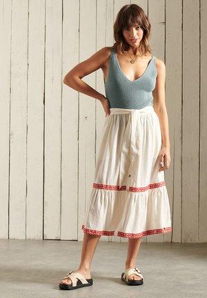 A-line skirt - buttercream