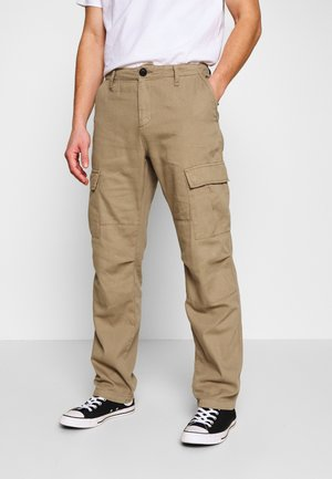 WASHED STRAIGHT - Cargo trousers - light moss