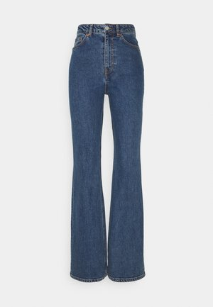KAORI LA LUNE - Jeans Straight Leg - blue medium dusty