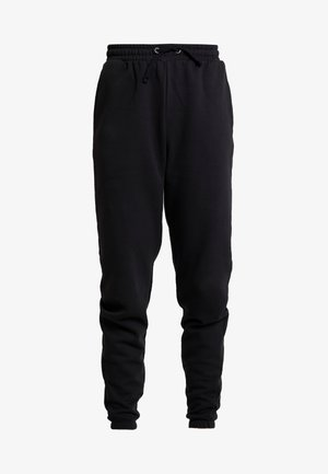 HIGH WAISTED LOOSE FIT JOGGERS  - Träningsbyxor - black