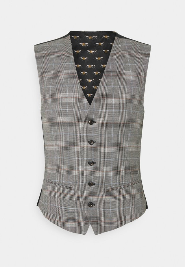 HERITAGE POW CHECK VEST - Waistcoat - black