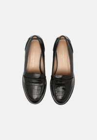 Dorothy Perkins Wide Fit - WIDE LINCOLN CHUNKY CROC LOAFER - Mocassins - black - 5
