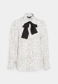 Sister Jane - GET TOGETHER RUFFLE BOW BLOUSE - Button-down blouse - ivory - 4