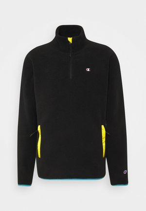 HALF ZIP - Fleecepullover - black