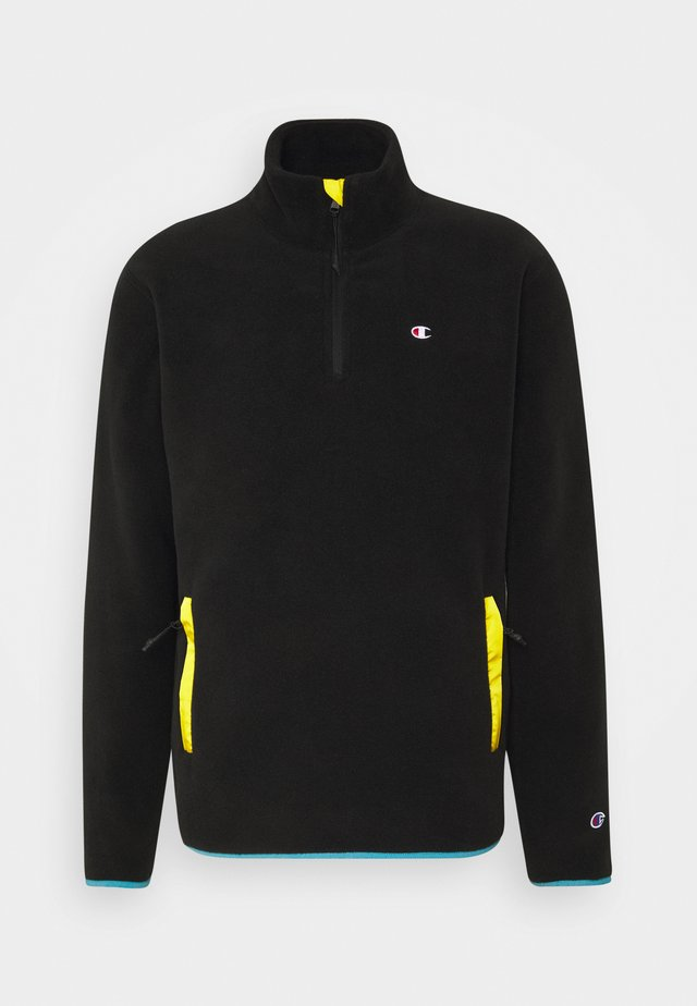 HALF ZIP - Felpa in pile - black