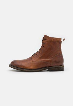 BIADAIMON  - Lace-up ankle boots - cognac