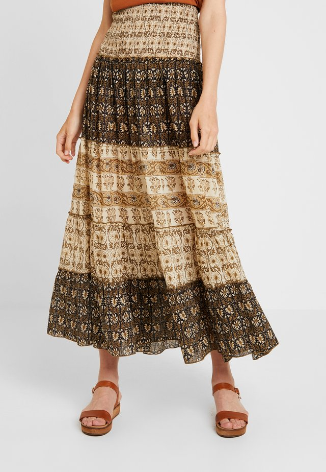 SKIRT LONG - Maxiskjørt - brown