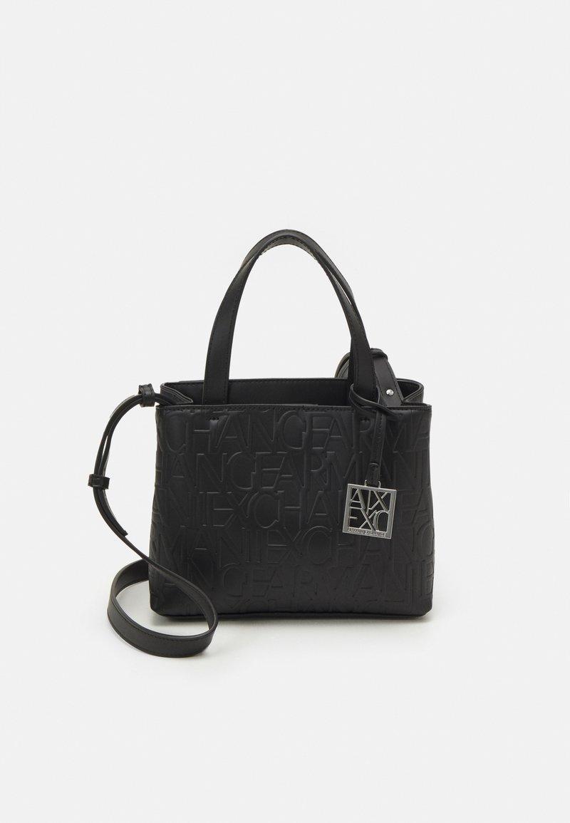 Armani Exchange - SMALL OPEN SHOPPING - Handbag - black