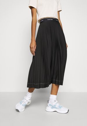 SUNRAY PLEAT SKIRT - A-Linien-Rock - black