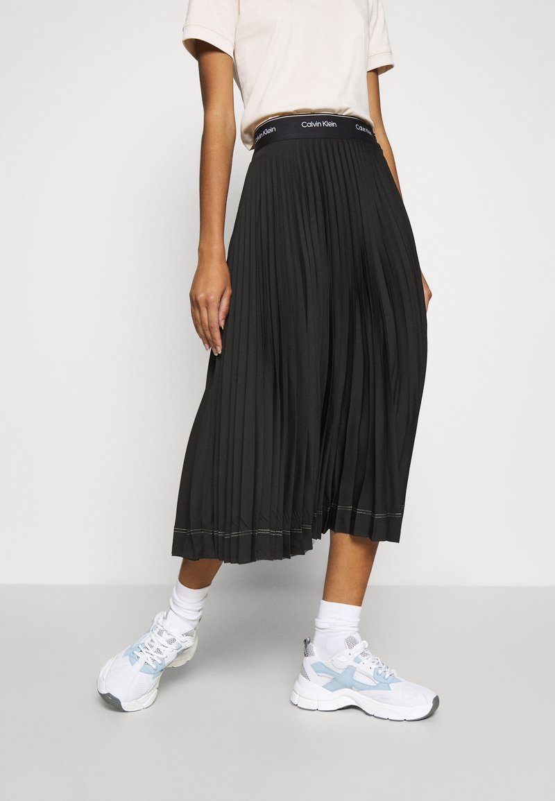 Calvin Klein - SUNRAY PLEAT SKIRT - A-lijn rok - black