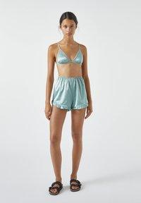 PULL&BEAR - MIT VOLANT - Pyjama bottoms - blue - 1
