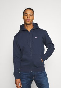 Tommy Jeans - REGULAR ZIP HOOD - Felpa aperta - twilight navy - 0