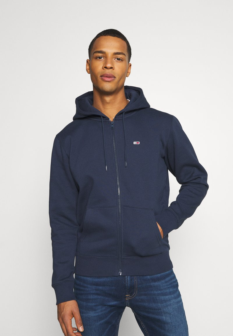 Tommy Jeans - REGULAR ZIP HOOD - Felpa aperta - twilight navy