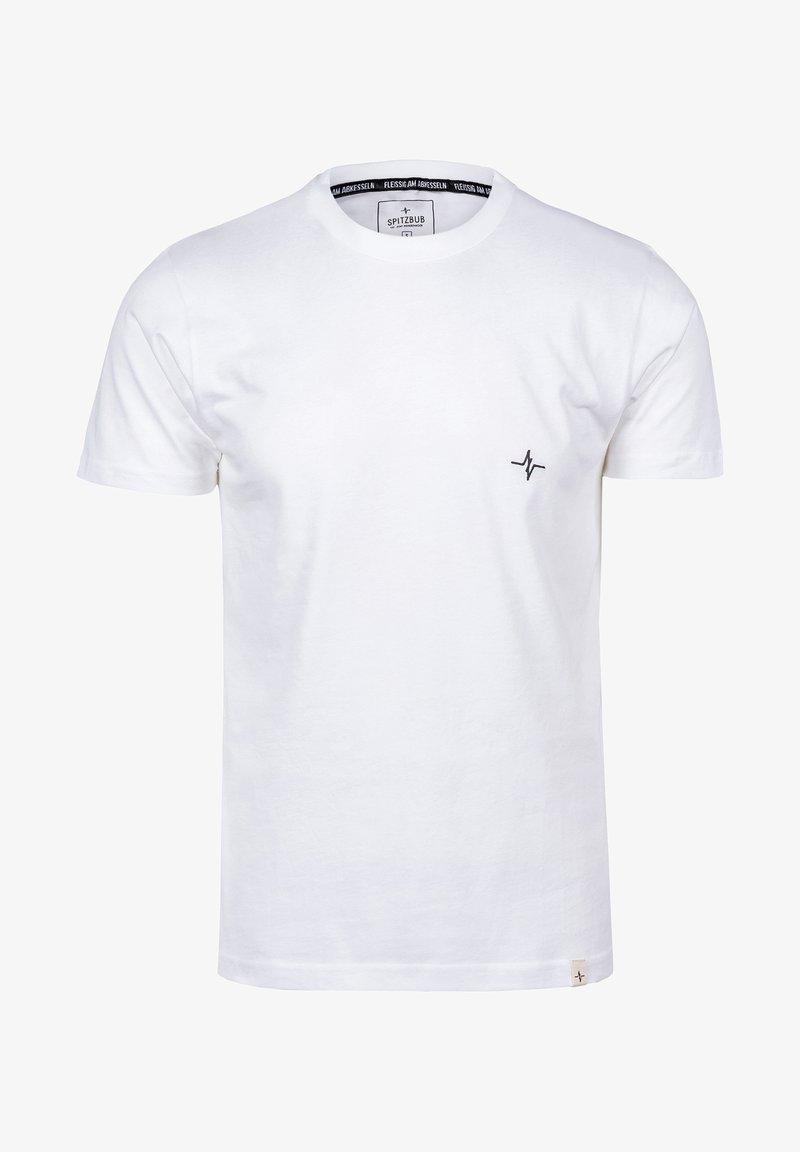 Spitzbub - HEARTBEAT - Basic T-shirt - weiß