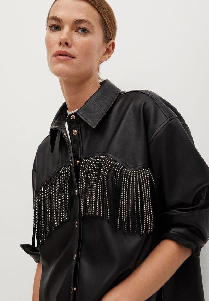 Mango - WESTERN - Button-down blouse - schwarz