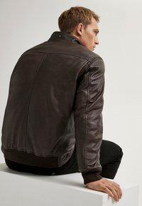 Massimo Dutti - Faux leather jacket - brown - 5