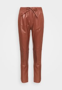 Oakwood - GIFT - Leather trousers - light brown - 5