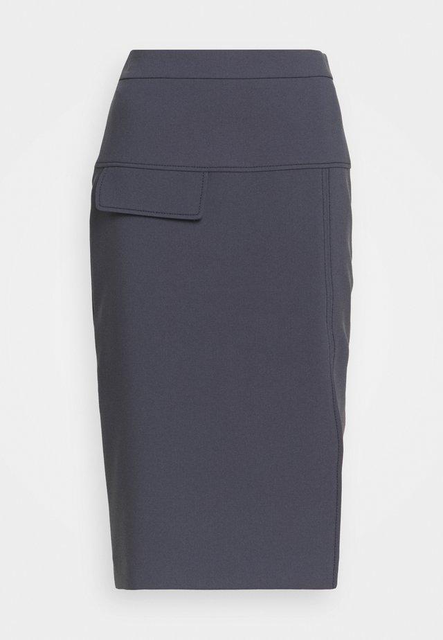 RASUSA - Falda de tubo - dark blue