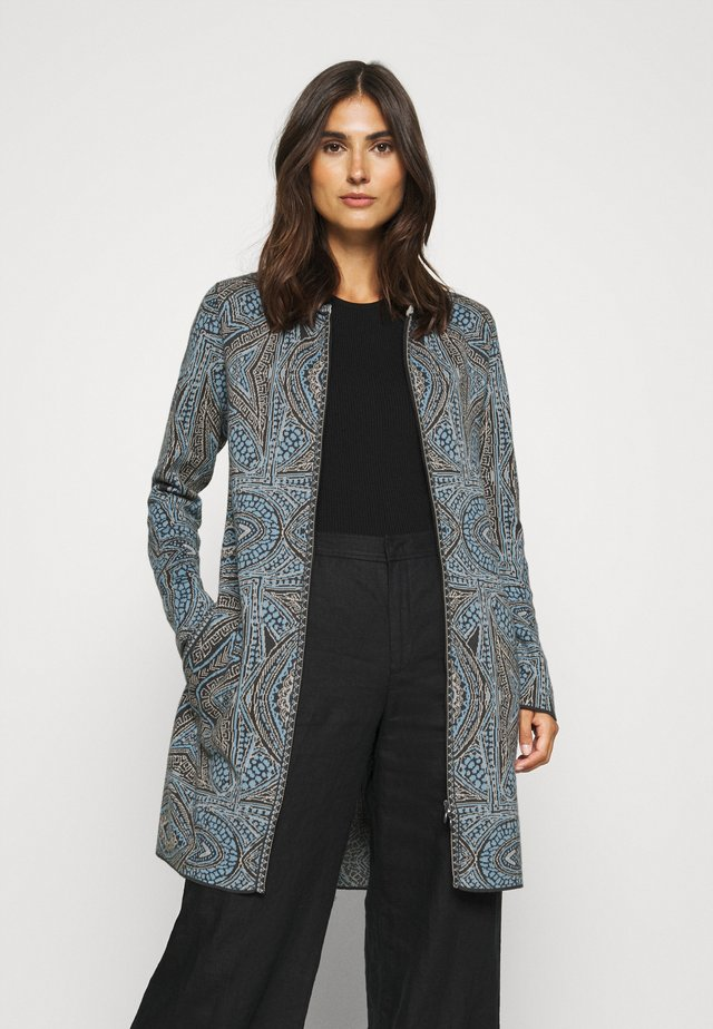 COATIGAN GEOMETRIC PATTERN - Gilet - dark grey
