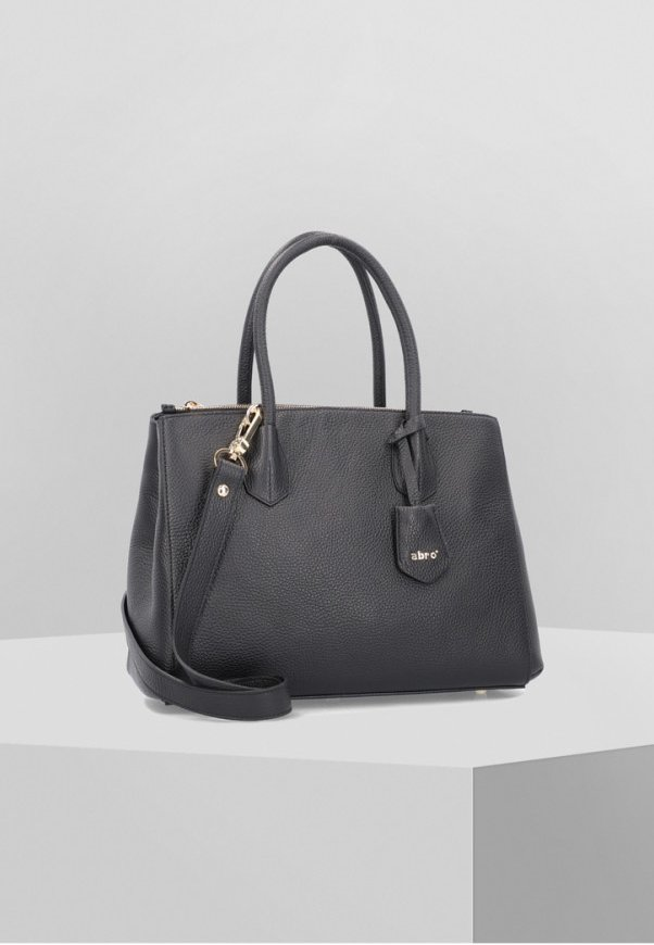 ADRIA HANDTASCHE LEDER 32 CM - Handbag - black