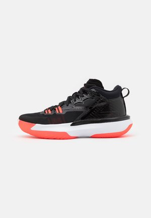 ZION 1 - Basketball shoes - black/bright crimson/white