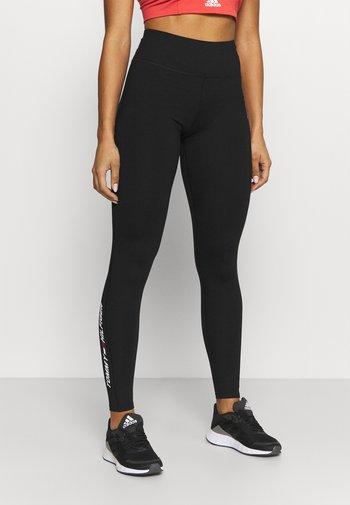 GRAPHIC LEGGING - Collants - black