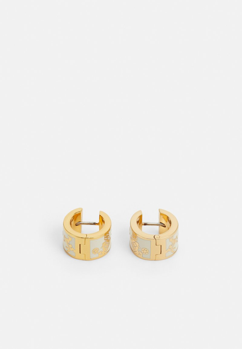 Coach - HORSE AND CARRIAGE HUGGIE - Earrings - gold-coloured/chalk