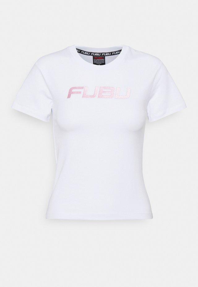 VARSITY - T-shirt print - white