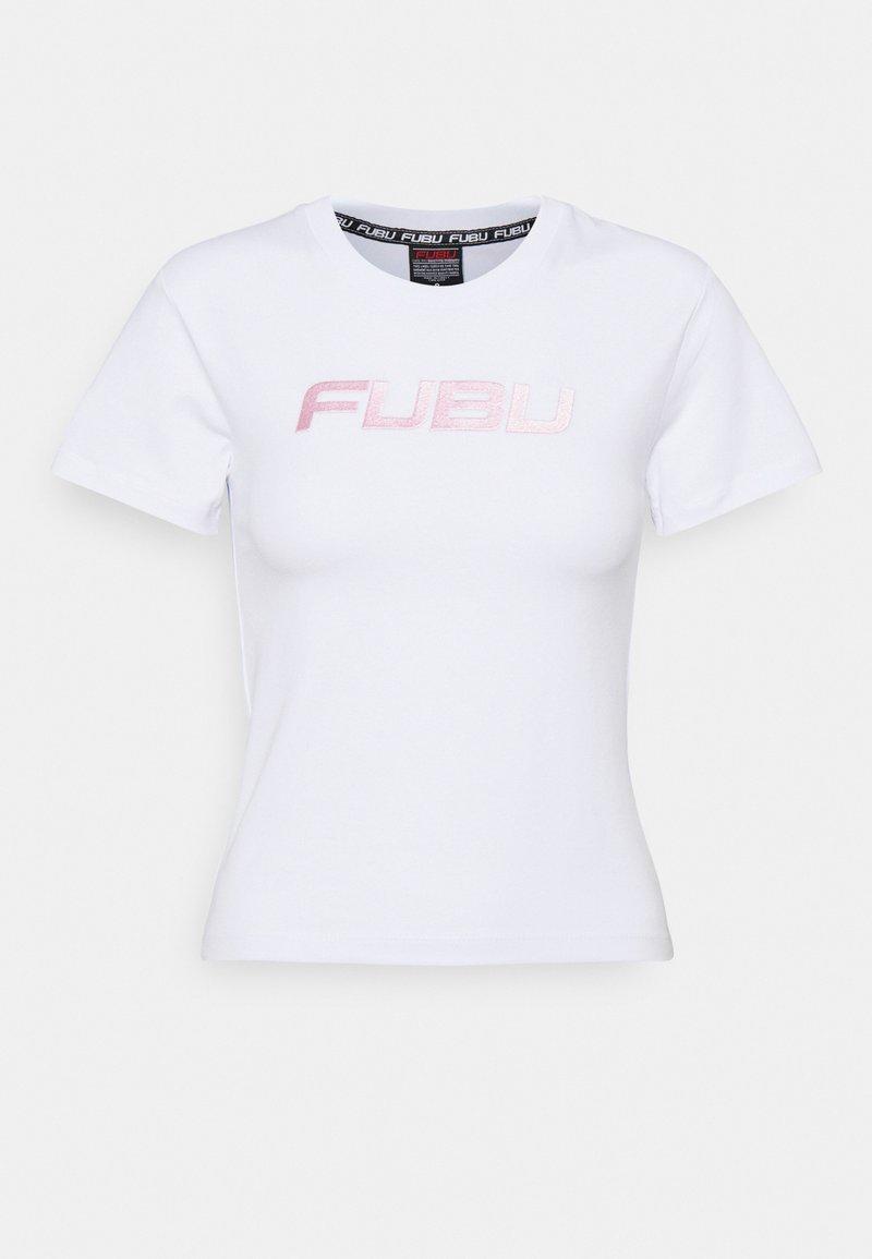 FUBU - VARSITY - Print T-shirt - white